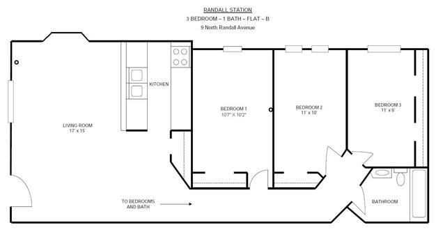 3 Bedrooms 1 Bathroom Apartment for rent at Randall Station in Madison, WI