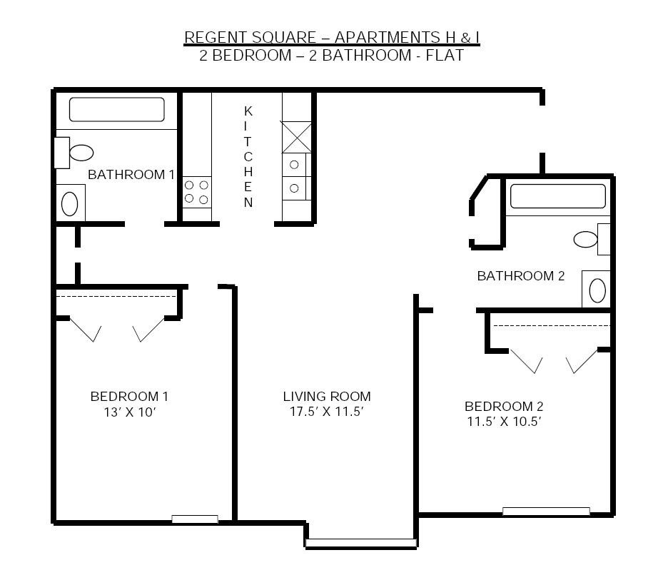 2 Bedrooms 2 Bathrooms Apartment for rent at Regent Square in Madison, WI