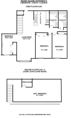 4 Bedrooms 2 Bathrooms Apartment for rent at Regent Square in Madison, WI