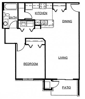 1 Bedroom 1 Bathroom Apartment for rent at Seminole Woods in Fitchburg, WI