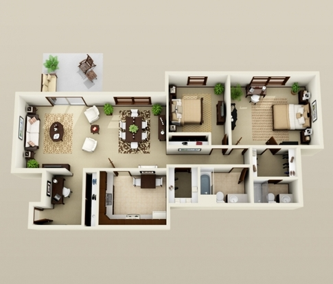 2 Bedrooms 1 Bathroom Apartment for rent at Les Chateaux in Madison, WI