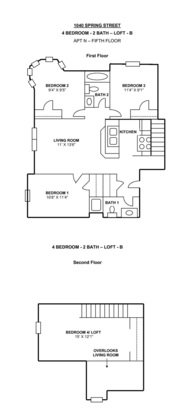 4 Bedrooms 2 Bathrooms Apartment for rent at 1040 Spring St in Madison, WI