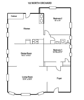 2 Bedrooms 1 Bathroom Apartment for rent at 120-128 N Orchard Street in Madison, WI