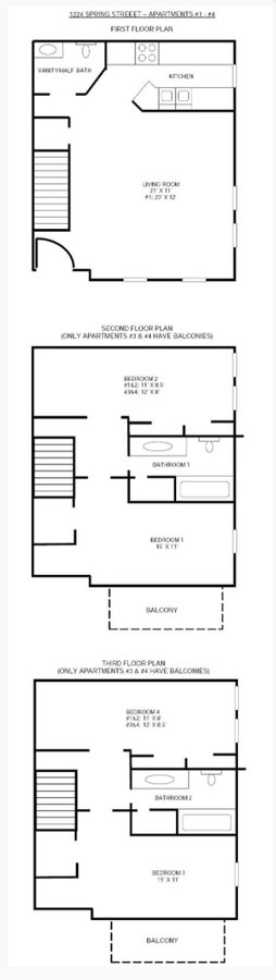 4 Bedrooms 3 Bathrooms Apartment for rent at 1224 Spring Street in Madison, WI