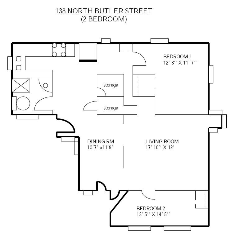 2 Bedrooms 1 Bathroom Apartment for rent at 138 N Butler in Madison, WI
