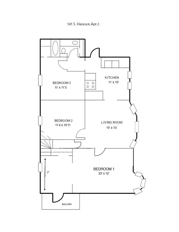 3 Bedrooms 1 Bathroom Apartment for rent at 141 S Hancock St in Madison, WI