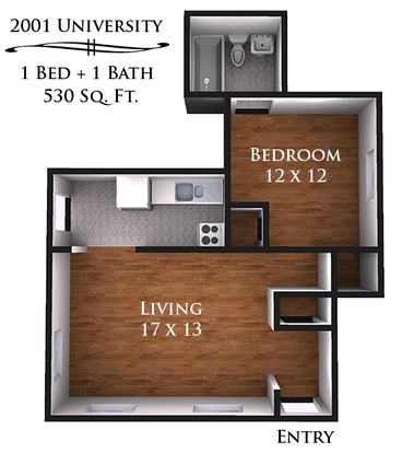 1 Bedroom 1 Bathroom Apartment for rent at 2001-2003 University Ave in Madison, WI