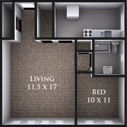 1 Bedroom 1 Bathroom Apartment for rent at 2019 University Ave in Madison, WI