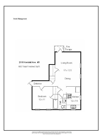 1 Bedroom 1 Bathroom Apartment for rent at 2110 Kendall Ave in Madison, WI