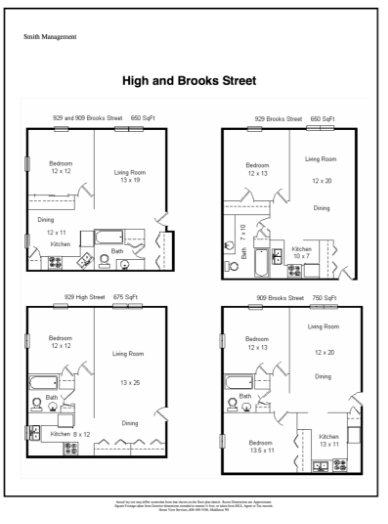 1 Bedroom 1 Bathroom Apartment for rent at 929 Brook Street Apartments in Madison, WI