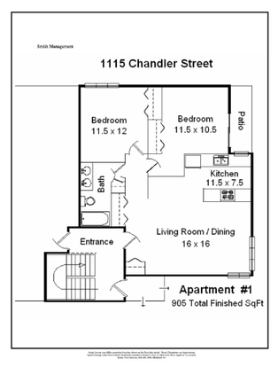 2 Bedrooms 1 Bathroom Apartment for rent at 1115 Chandler Street in Madison, WI