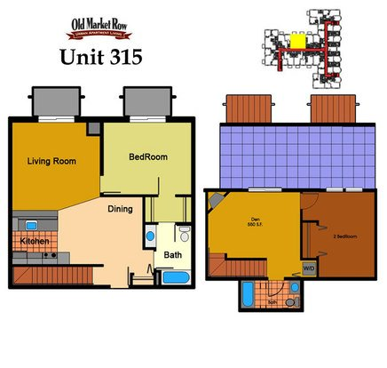 2 Bedrooms 2 Bathrooms Apartment for rent at Old Market Row Apartments in Madison, WI