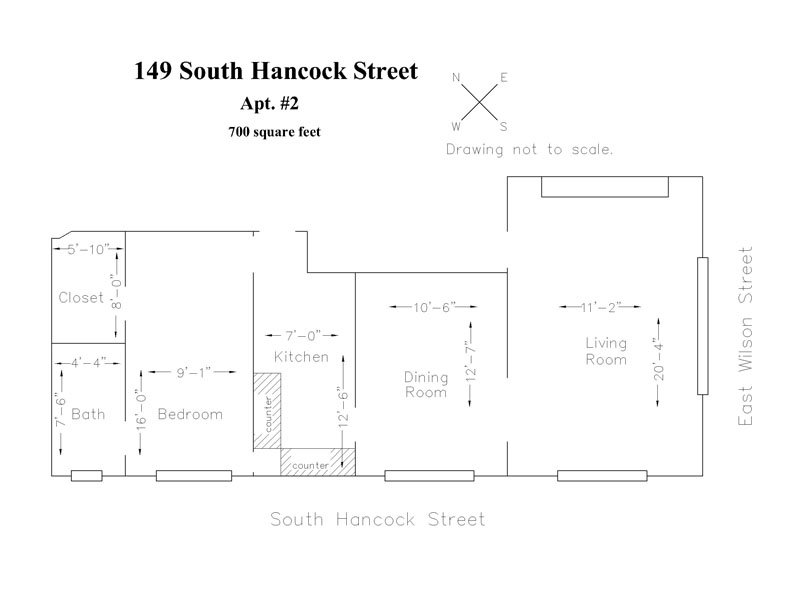 1 Bedroom 1 Bathroom Apartment for rent at 149 S Hancock St in Madison, WI