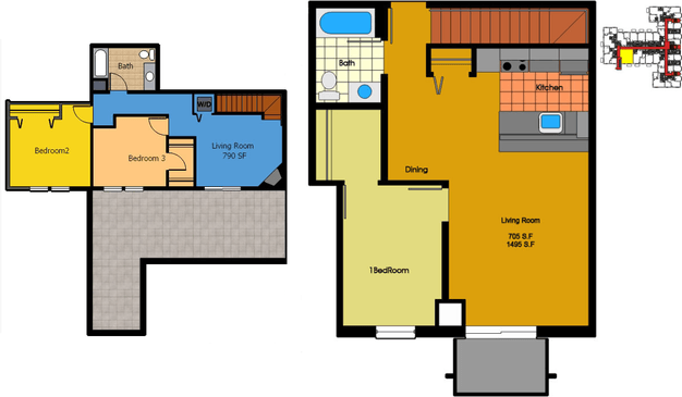 3 Bedrooms 2 Bathrooms Apartment for rent at Old Market Row Apartments in Madison, WI