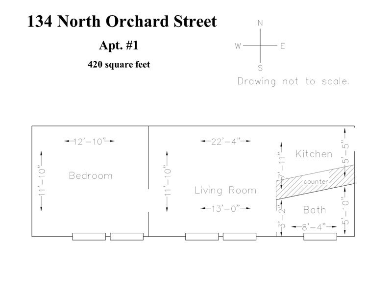 1 Bedroom 1 Bathroom Apartment for rent at N. Orchard St. Apartments in Madison, WI