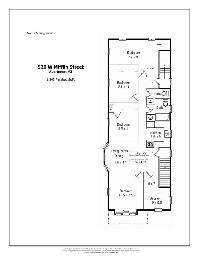 5 Bedrooms 2 Bathrooms Apartment for rent at 520 W. Mifflin in Madison, WI