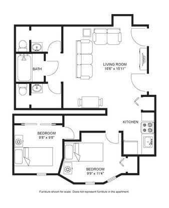 2 Bedrooms 1 Bathroom Apartment for rent at Morgan House in Madison, WI