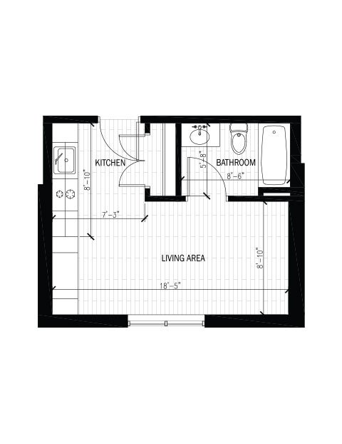 Studio 1 Bathroom Apartment for rent at The Regent in Madison, WI
