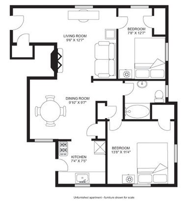 2 Bedrooms 1 Bathroom Apartment for rent at Walnut Manor Apartments in Madison, WI
