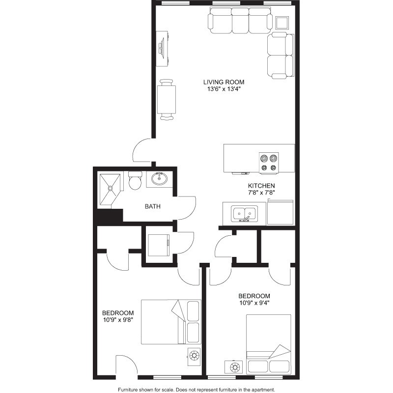 2 Bedrooms 1 Bathroom Apartment for rent at Laurel Commons in Madison, WI