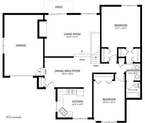 3 Bedrooms 2 Bathrooms Apartment for rent at Coronado Court in Madison, WI