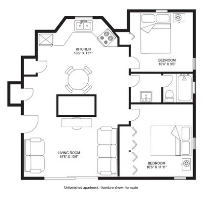 2 Bedrooms 1 Bathroom Apartment for rent at Twin Gables in Madison, WI