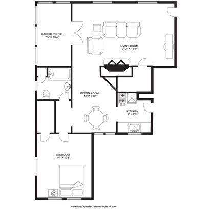 1 Bedroom 1 Bathroom Apartment for rent at Hamelin House in Madison, WI