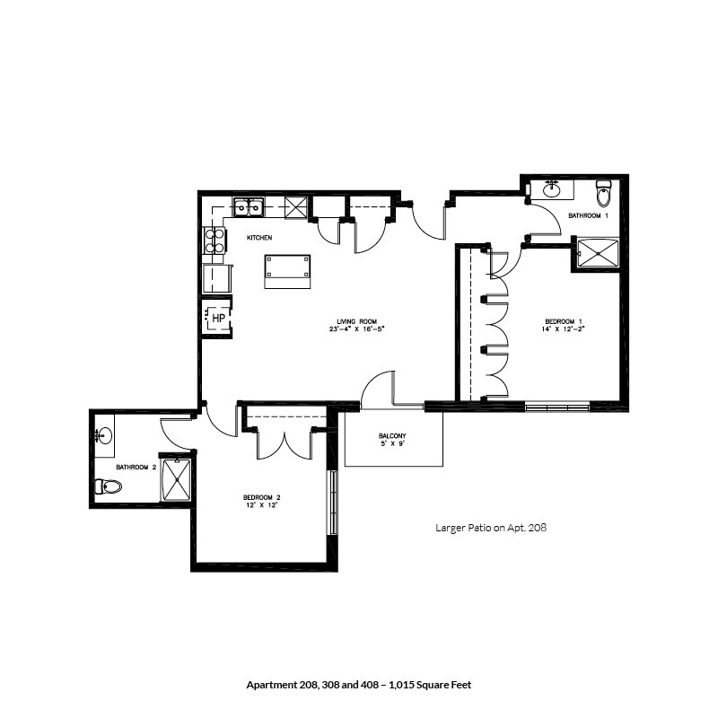 2 Bedrooms 1 Bathroom Apartment for rent at Keystone Apartments in Madison, WI