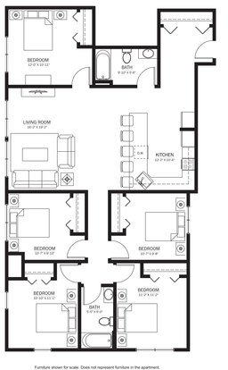 5 Bedrooms 2 Bathrooms Apartment for rent at 613 Maggie Frances in Madison, WI