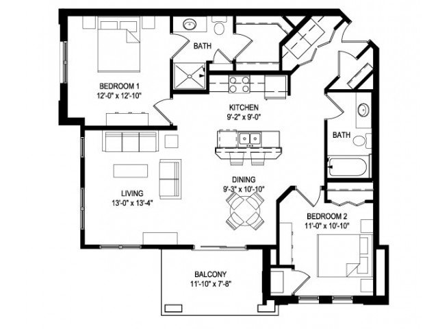 2 Bedrooms 2 Bathrooms Apartment for rent at West End Apartments in Verona, WI