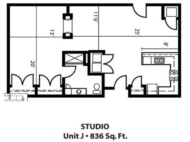 Studio 1 Bathroom Apartment for rent at Brownstone On Old Sauk in Madison, WI