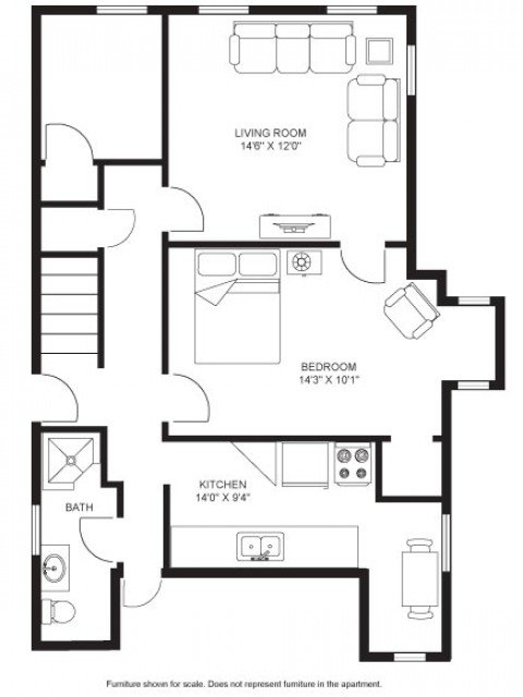 1 Bedroom 1 Bathroom Apartment for rent at Lewis Lodge in Madison, WI
