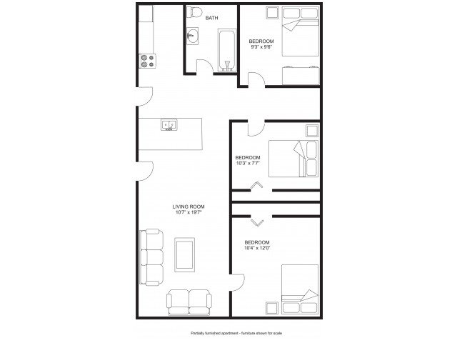 3 Bedrooms 3 Bathrooms Apartment for rent at Princeton Kendall in Madison, WI