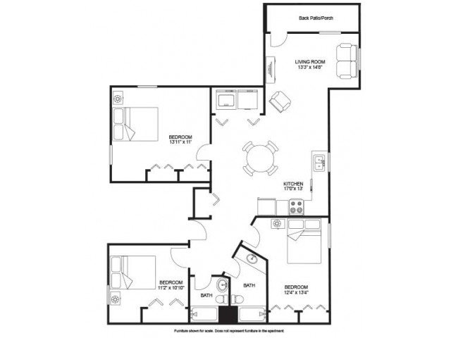 3 Bedrooms 2 Bathrooms Apartment for rent at Seven Eleven in Madison, WI