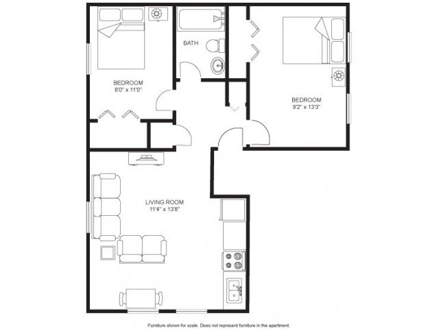 2 Bedrooms 1 Bathroom House for rent at Quisling Houses in Madison, WI