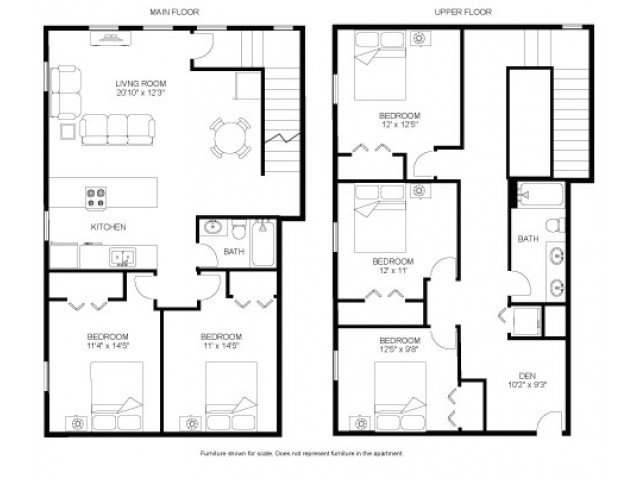 5 Bedrooms 2 Bathrooms Apartment for rent at Laurel Commons in Madison, WI