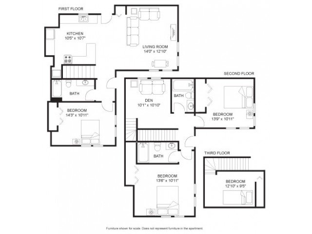 4 Bedrooms 3 Bathrooms Apartment for rent at Seven Eleven in Madison, WI