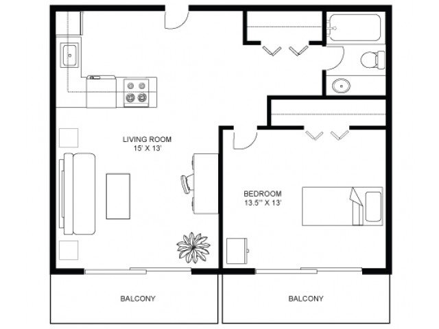1 Bedroom 1 Bathroom Apartment for rent at Henry Gilman in Madison, WI