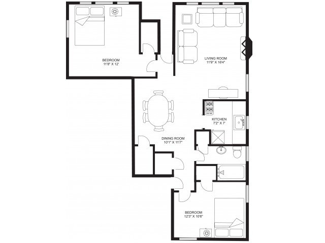 2 Bedrooms 1 Bathroom Apartment for rent at Russell Terrace in Madison, WI