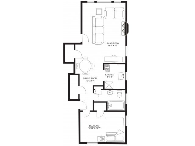 1 Bedroom 1 Bathroom Apartment for rent at Russell Terrace in Madison, WI