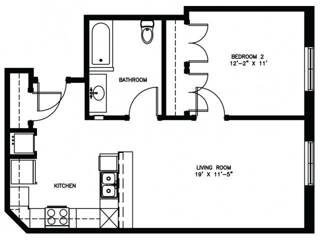 1 Bedroom 1 Bathroom Apartment for rent at Keystone Apartments in Madison, WI