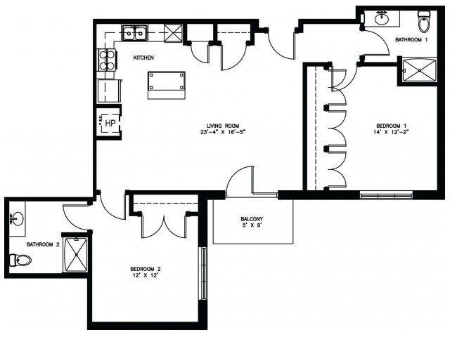 2 Bedrooms 2 Bathrooms Apartment for rent at Keystone Apartments in Madison, WI