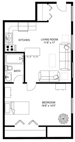 1 Bedroom 1 Bathroom Apartment for rent at Birge House Apartments in Madison, WI