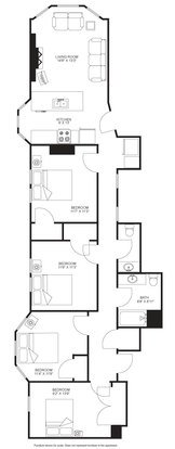 4 Bedrooms 2 Bathrooms Apartment for rent at The Blied Building in Madison, WI
