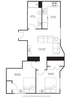 2 Bedrooms 1 Bathroom Apartment for rent at The Blied Building in Madison, WI