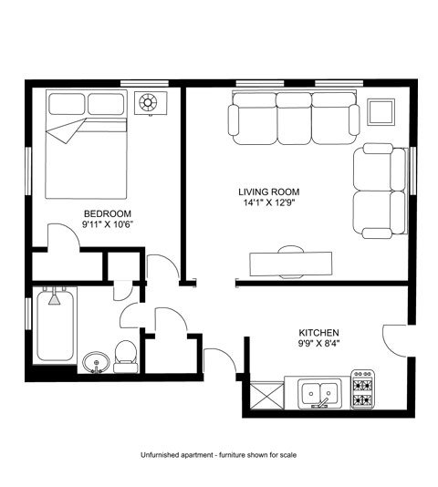 1 Bedroom 1 Bathroom Apartment for rent at Otto's House in Madison, WI