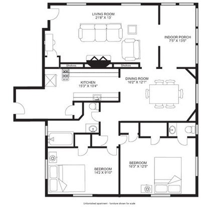 2 Bedrooms 1 Bathroom Apartment for rent at Hamelin House in Madison, WI