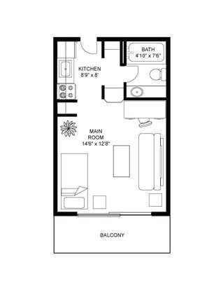 Studio 1 Bathroom Apartment for rent at Henry Gilman in Madison, WI