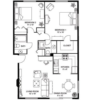 2 Bedrooms 2 Bathrooms Apartment for rent at Yorktown Apartments in Madison, WI