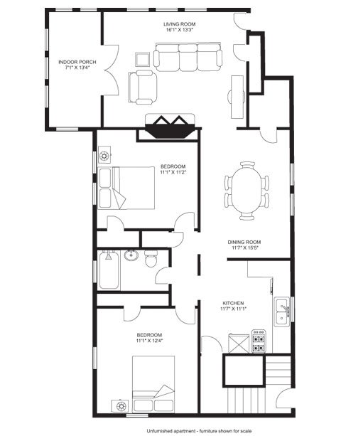 2 Bedrooms 1 Bathroom House for rent at Kendall Duplex in Madison, WI